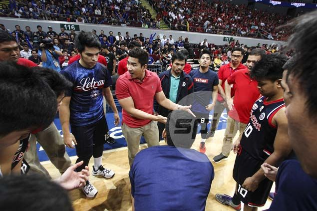 Letran patron Manny Pacquiao shows up to motivate Knights in NCAA Finals vs San Beda