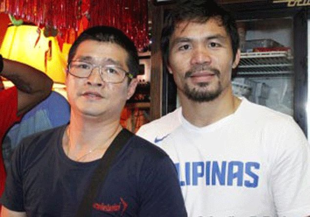 Manny Pacquiao gets surprise visit from the fighter he beat for first ever world title