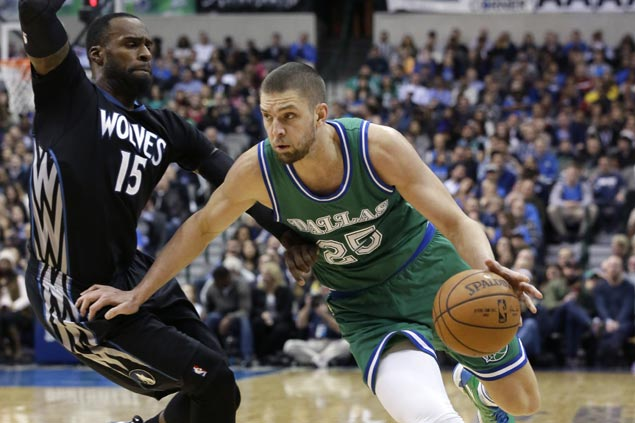 Chandler Parsons carries Dallas over Minnesota in OT to spoil Karl-Anthony Town's big night