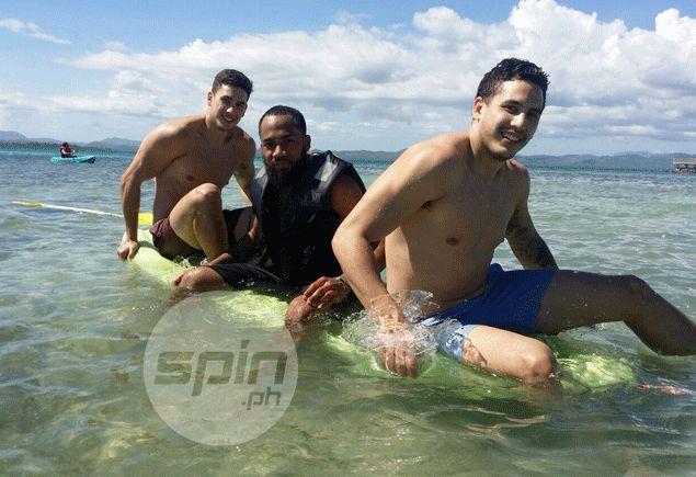 PBA stars savor sun and sea in scenic Palawan in rare break from rigors of basketball