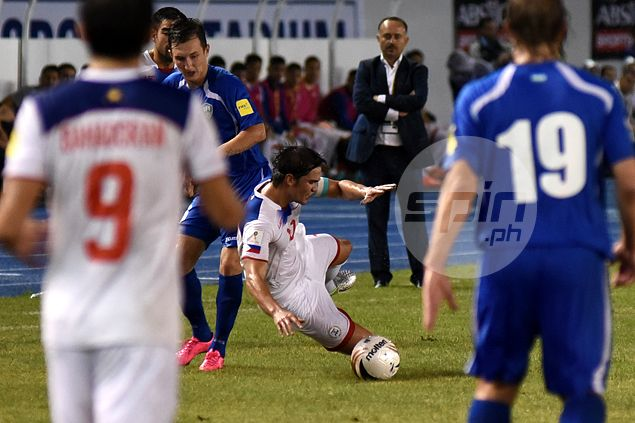 Phil Younghusband says early miscues - more than Uzbeks' quality - did Azkals in