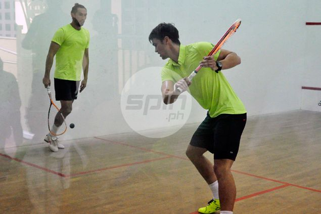 Phil Younghusband, a big Federer fan, a natural as he gives squash a try
