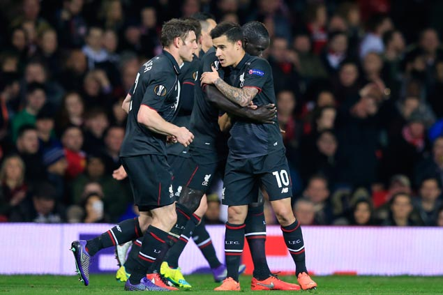 Liverpool ousts Manchester United to reach Europa League quarterfinals