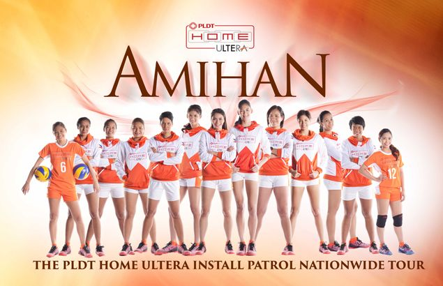 Amihan Pilipinas volleyball stars take countryside by storm in PLDT Home Ultera Install Patrol tour
