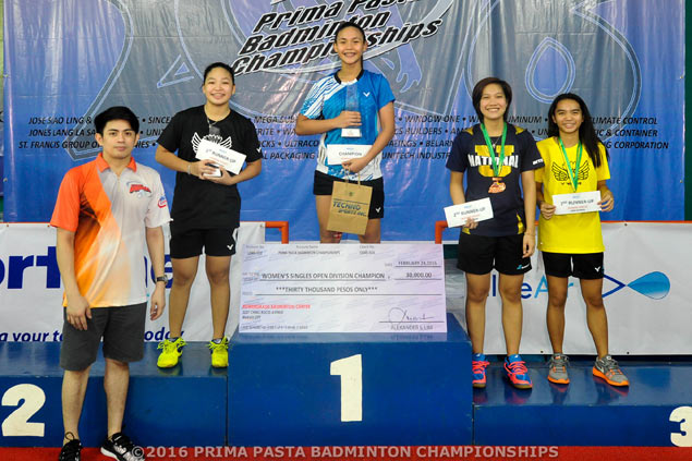 Teenager Sarah Joy Barredo shows up top guns, rules Prima Badminton championship