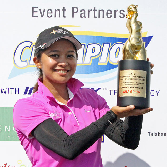 Princess Superal pounces on rivals' last-hole hiccup to wrap up PH Ladies Open title