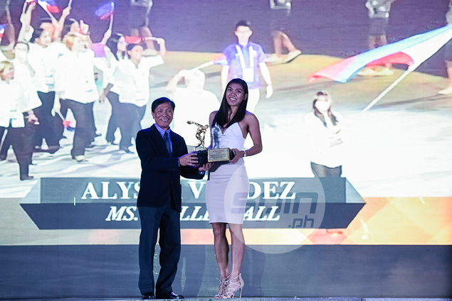 Just another day at the office on 'Heart's Day' for Alyssa Valdez