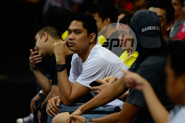Ranidel de Ocampo makes first public appearance, aching to get back on court