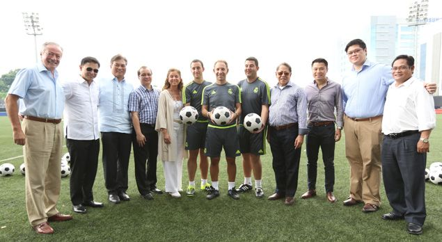 Real Madrid footbal clinic kicks off at Mckinley Hill Stadium