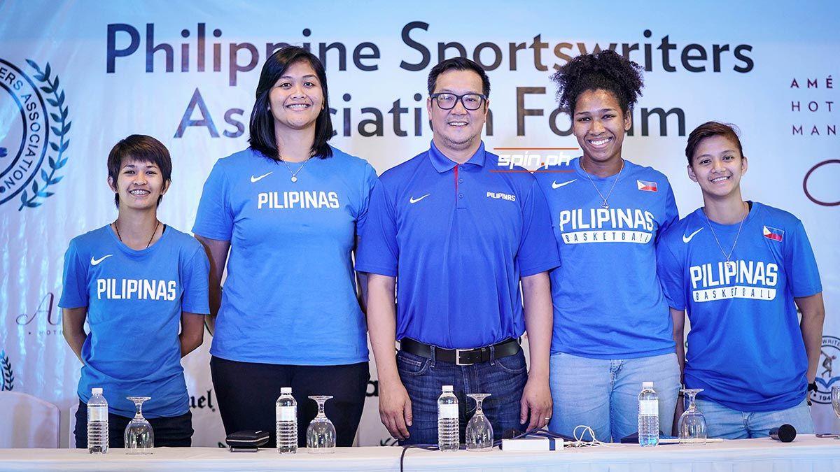 Pat Aquino with Gilas Women