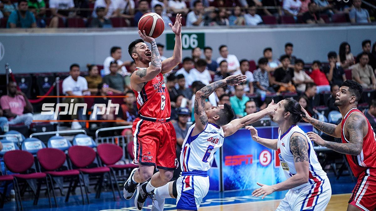 Roi Sumang playing for Blackwater against Magnolia.