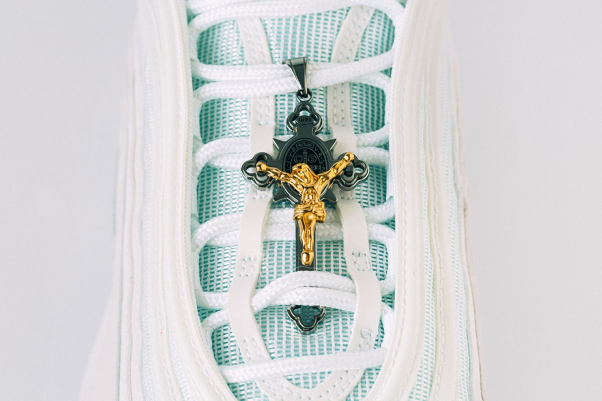 The Nike Air Max 97 \u0027Jesus Shoe\u0027 has actual holy water in it