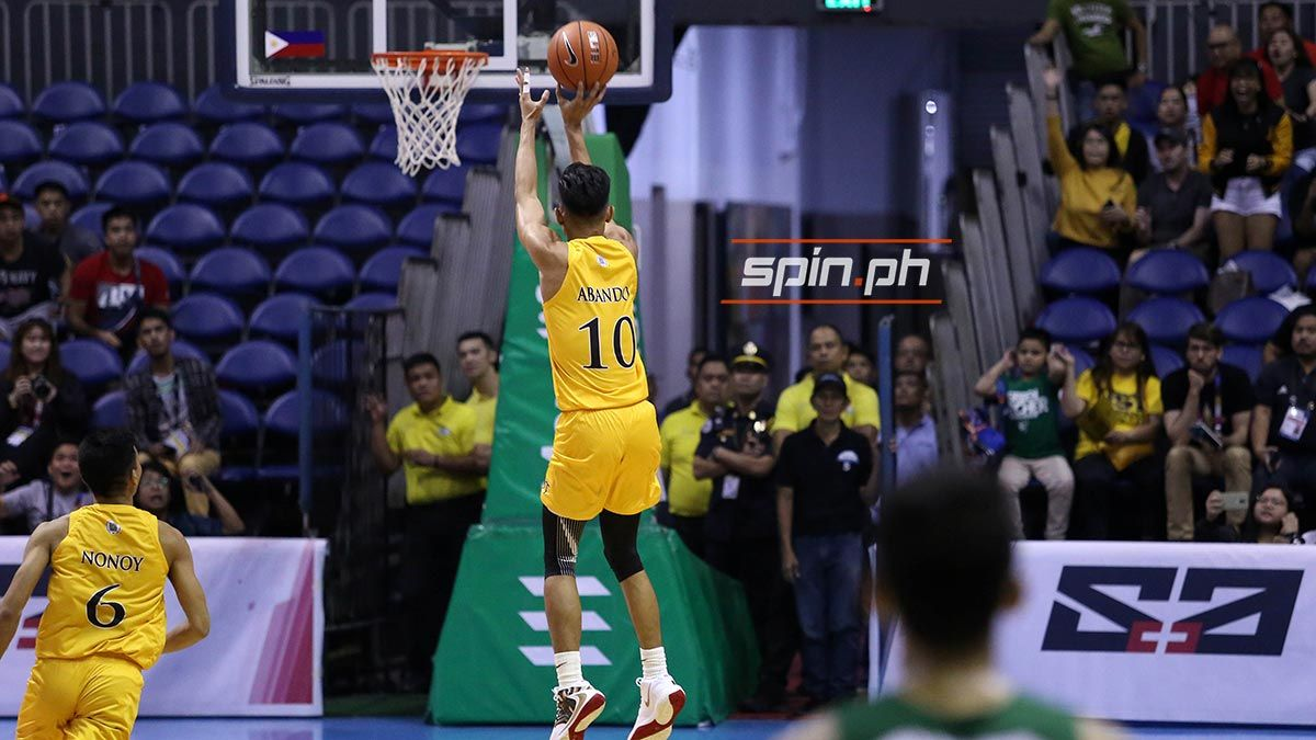Rhenz Abando is playing for the San Juan Knights in the inaugural season of FilBasket, the league said on Sunday.