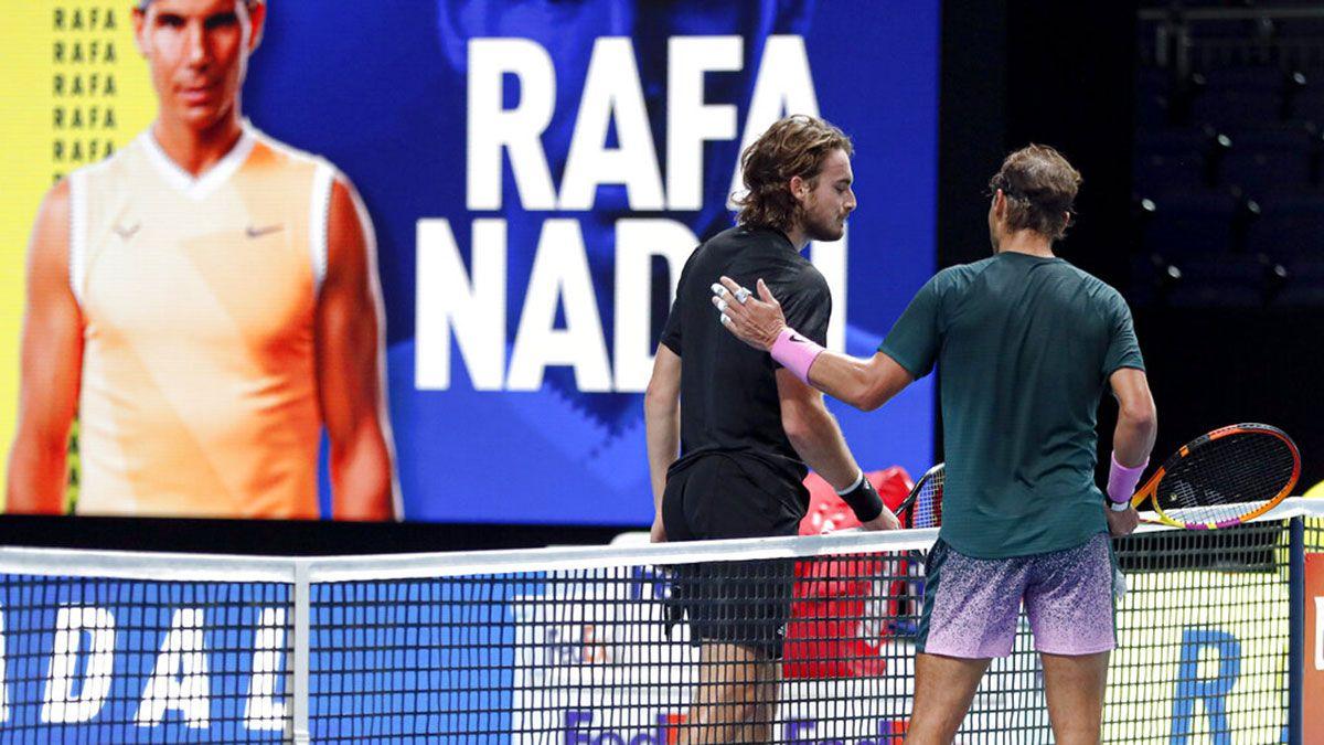 Tennis: Rafael Nadal beats Stefanos Tsitsipas in ATP Final ...   Nadal Tsitsipas