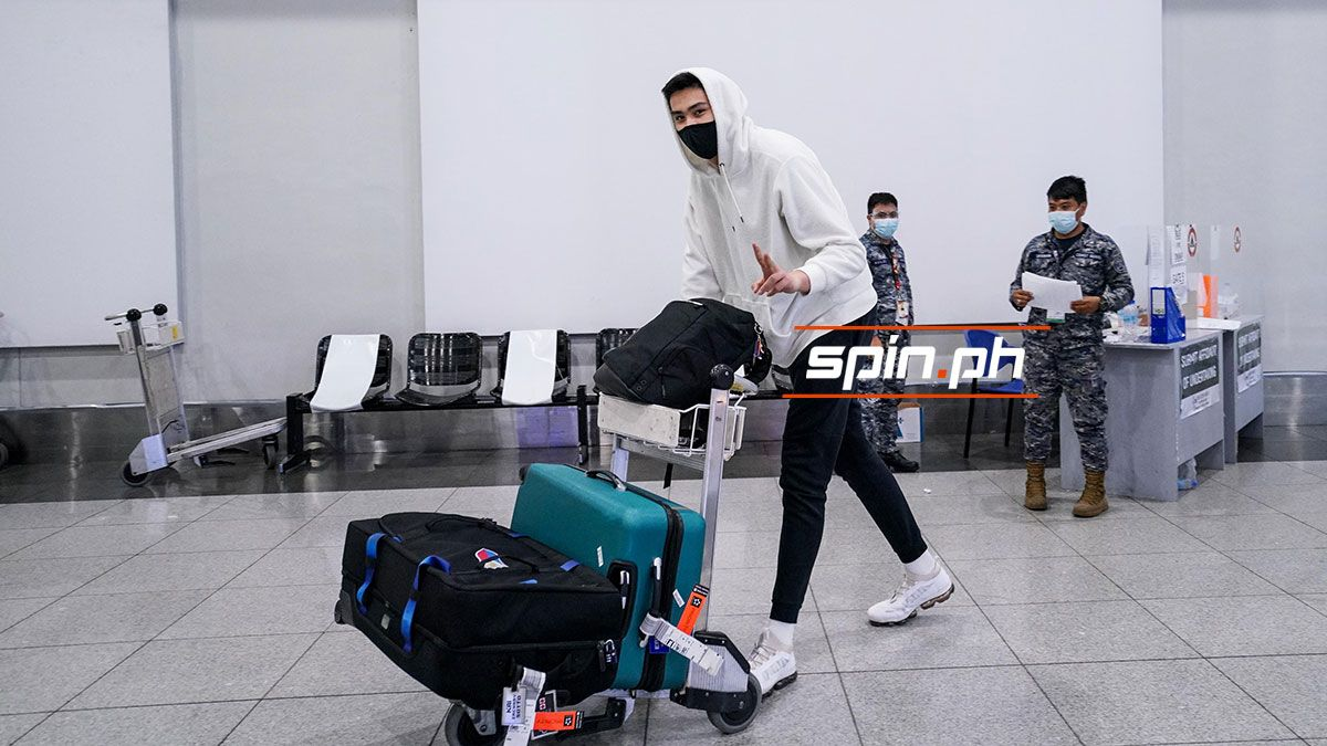 Kai Sotto arrives from the United States