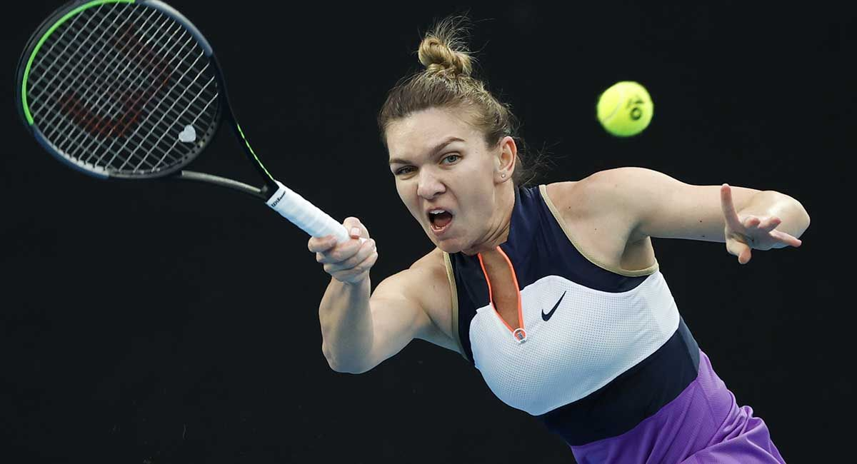 Simona Halep in the Australian Open versus Lizette Cabrera