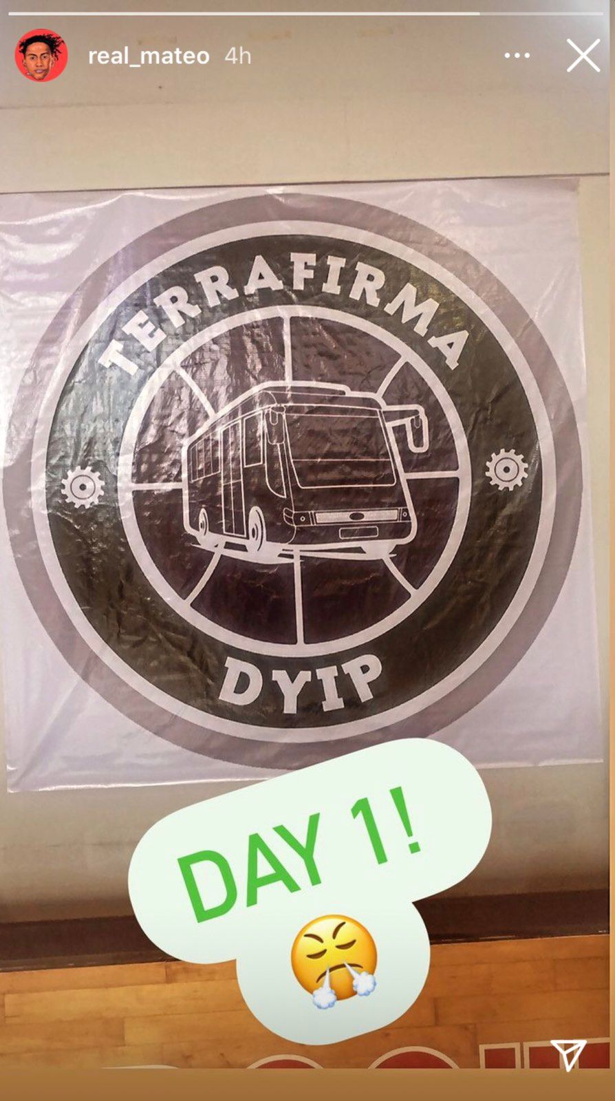 The Terrafirma banner in their headquarters at the Azure Residences