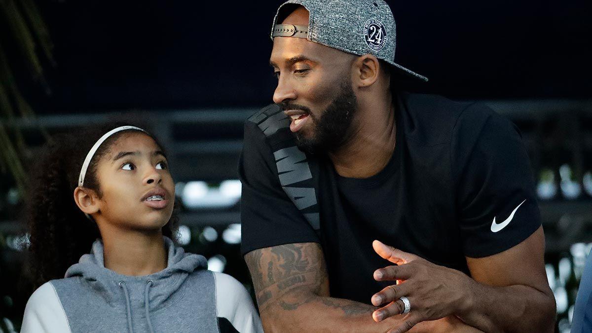 Kobe and Gigi Bryant share a moment
