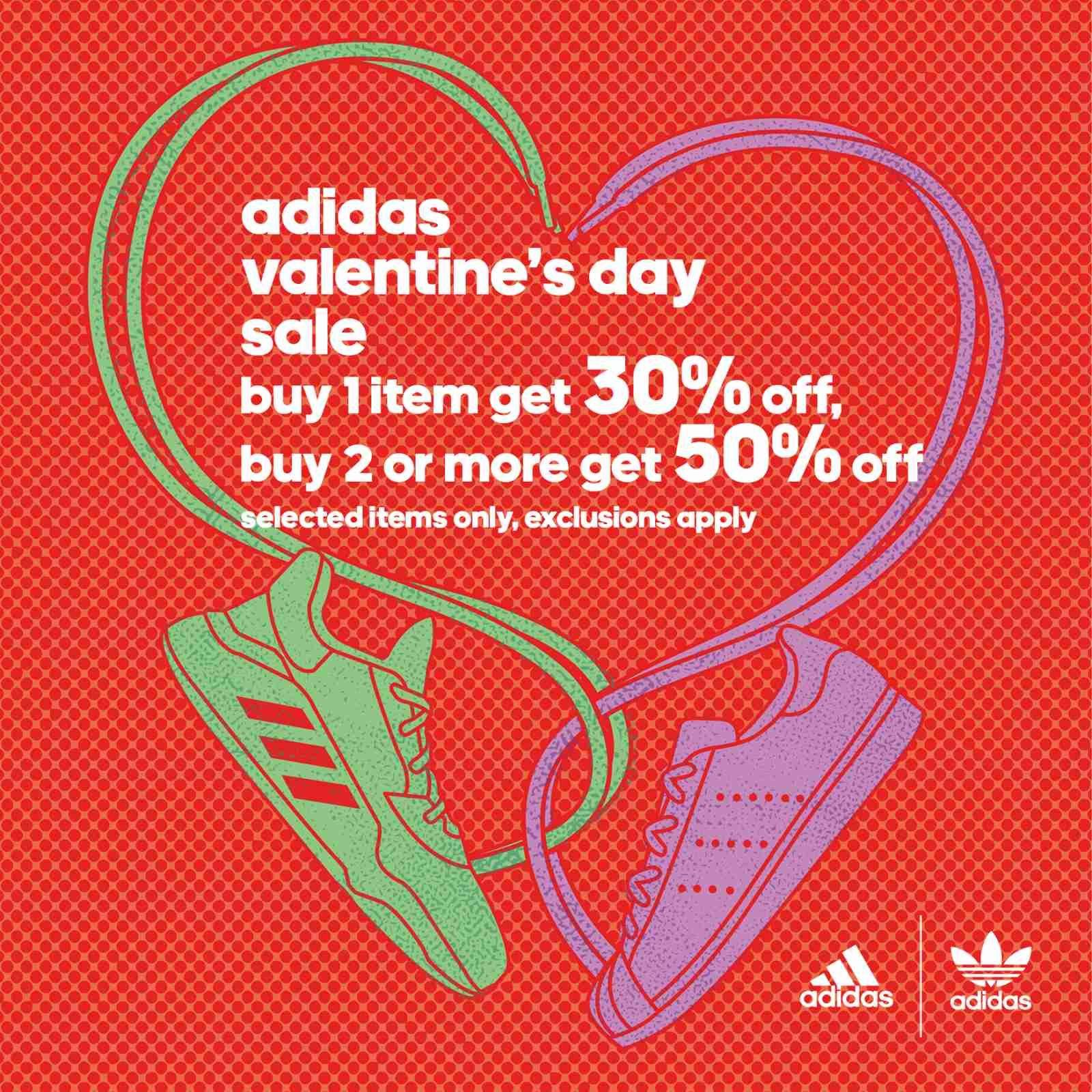 Adidas Valentine's Day Sale Poster