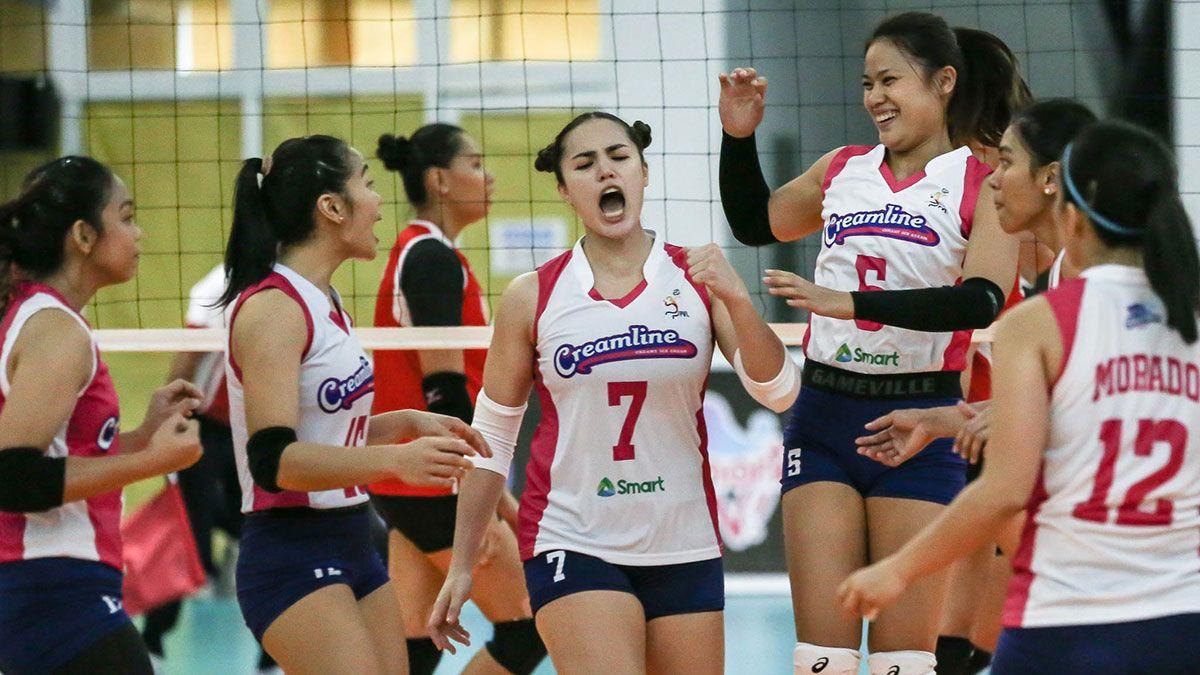 Michele Gumabao Risa Sato Creamline vs Petro Gazz
