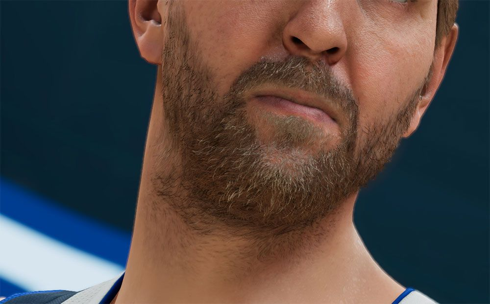 Zoom in of Dirk Nowitzki screenshot