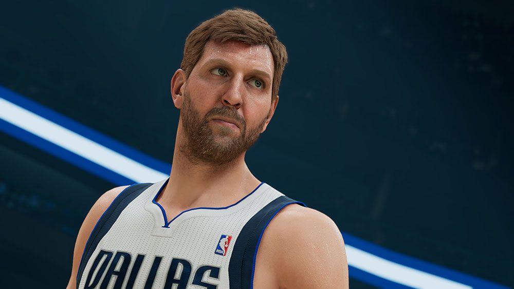 Dirk Nowitzki screenshot from NBA 2K22