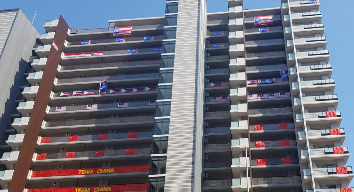 Philippine quarters in the Athletes' Village in Tokyo