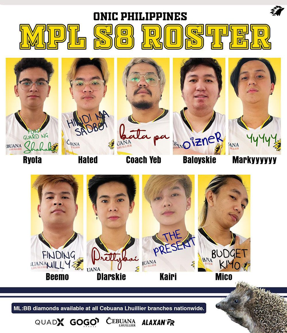 Onic PH roster