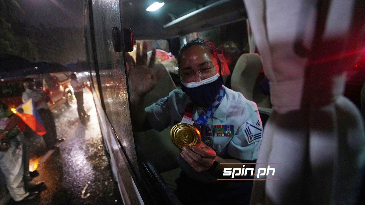 Hidilyn Diaz arrival gold medal