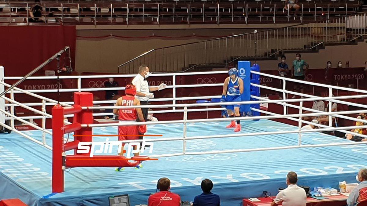Nesthy Petecio at the Tokyo Olympics.