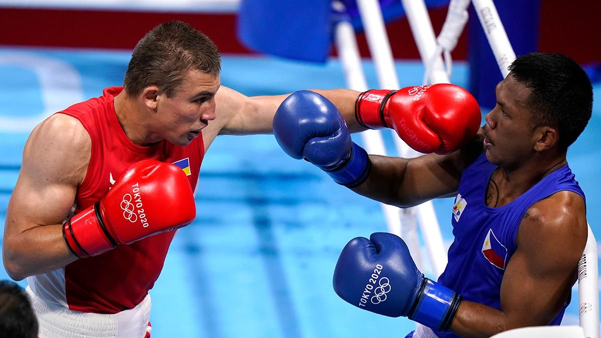 Eumir Marcial at the Tokyo Olympics.