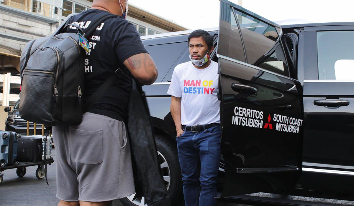 Manny Pacquiao Vegas arrival.