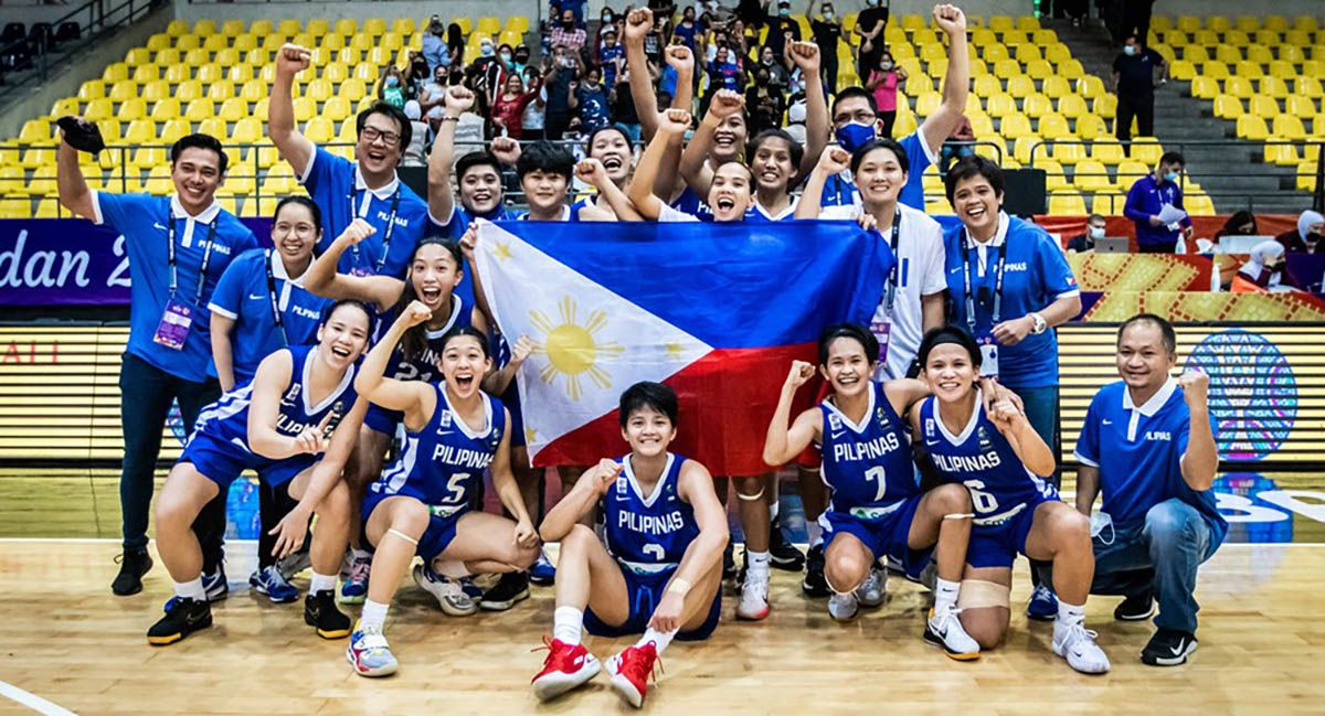 Gilas Women after beating India in Fiba Asia Women Cup