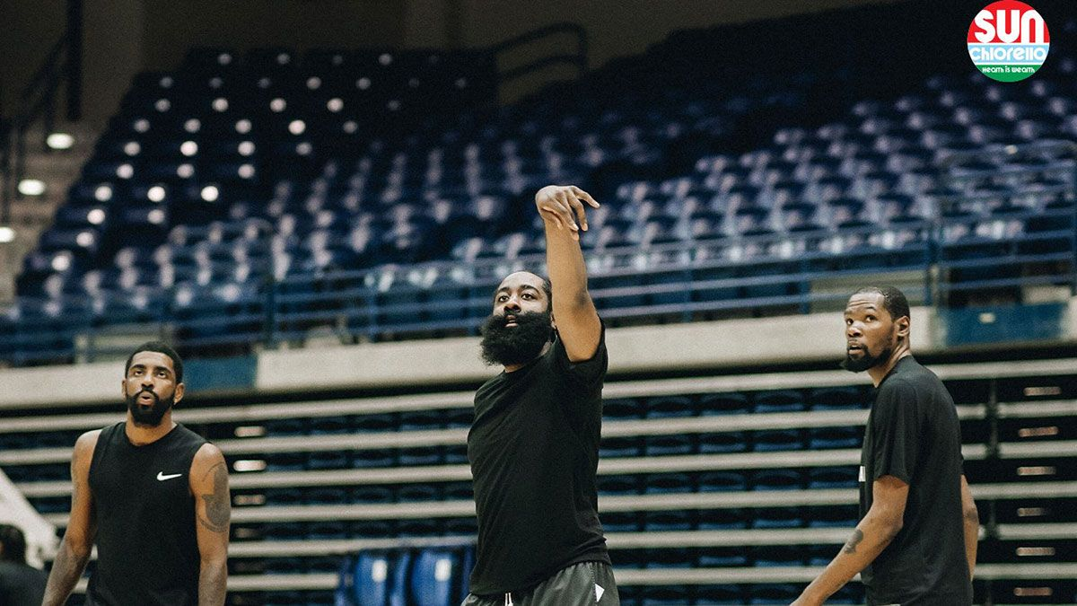 James Harden Kyrie Irving Kevin Durant Nets training camp