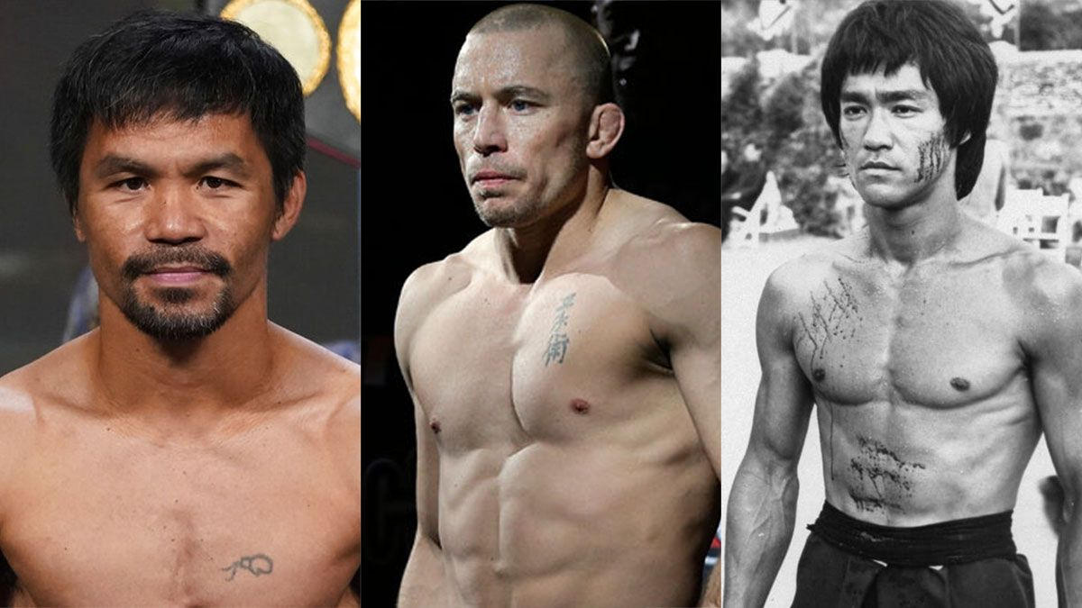 Manny Pacquiao Georges St. Pierre Bruce Lee