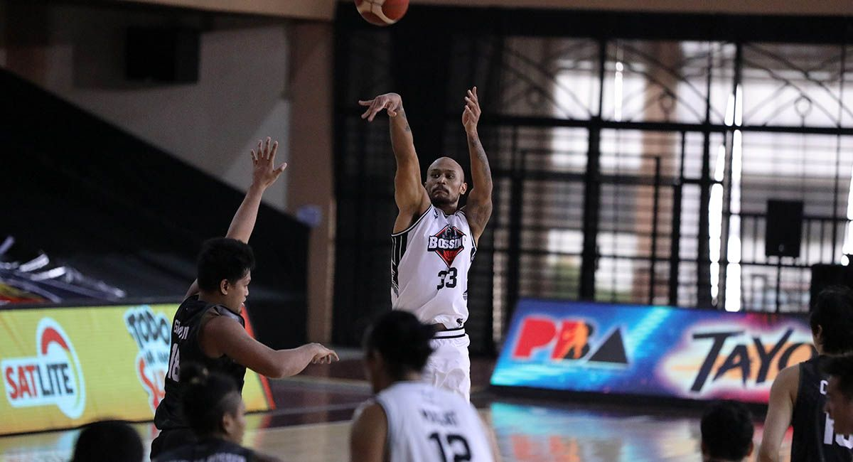 Kelly Nabong attempts a jump shot during a PBA game against Terrafirma.