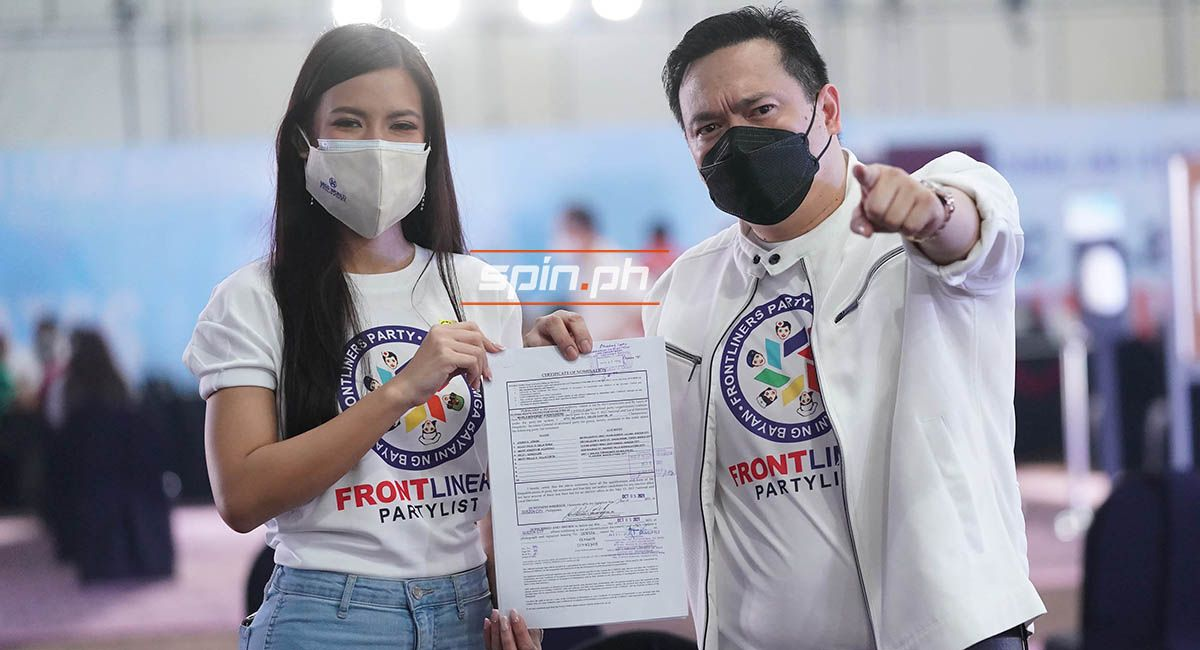 Longtime Manny Pacquiao aide Jayke Joson files his Certificate of Candidacy as nominee of party list bet Frontliners with 2021 Miss World