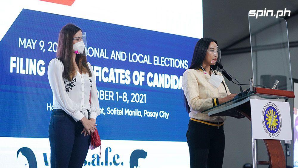 Mocha Uson and Michele Gumabao