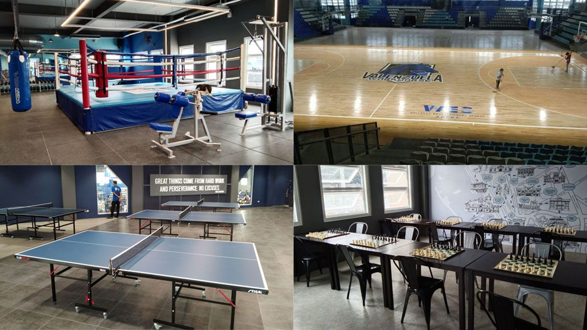 Wes Arena Valenzuela, multi-purpose sports facility, basketball court, boxing gym, table tennis, chess