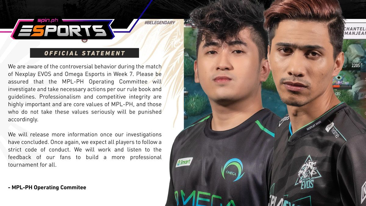 In the aftermath of the match, Nexplay EVOS and MPL-PH came under investigation.