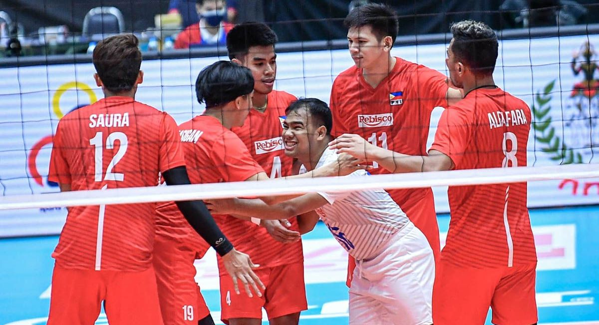 Rebisco Philippines wins its first game at the Asian Club Men's Volleyball Championship.