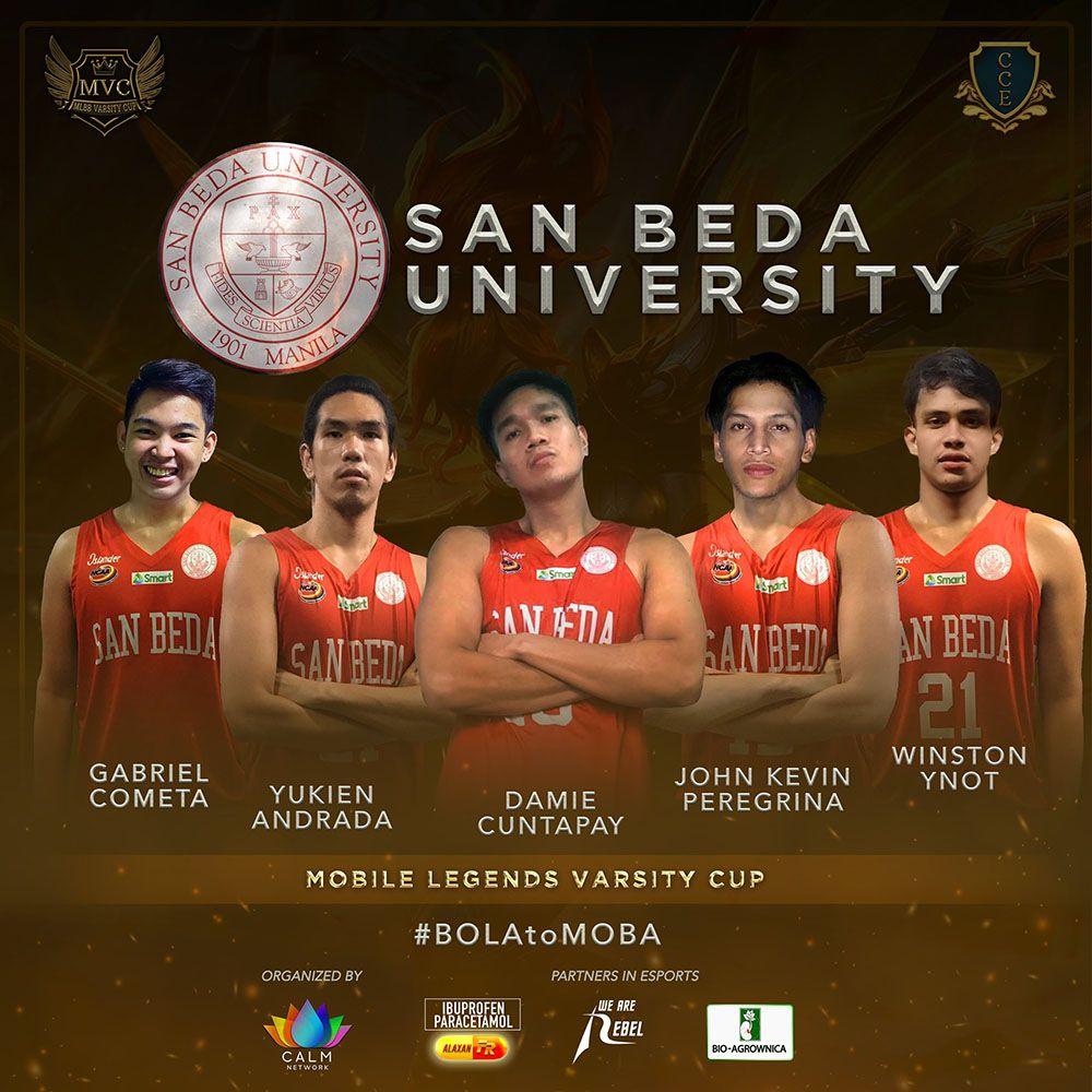 San Beda lineup for Mobile Legends Varsity Cup