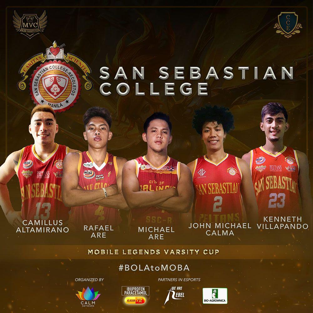 San Sebastian lineup for Mobile Legends Varsity Cup