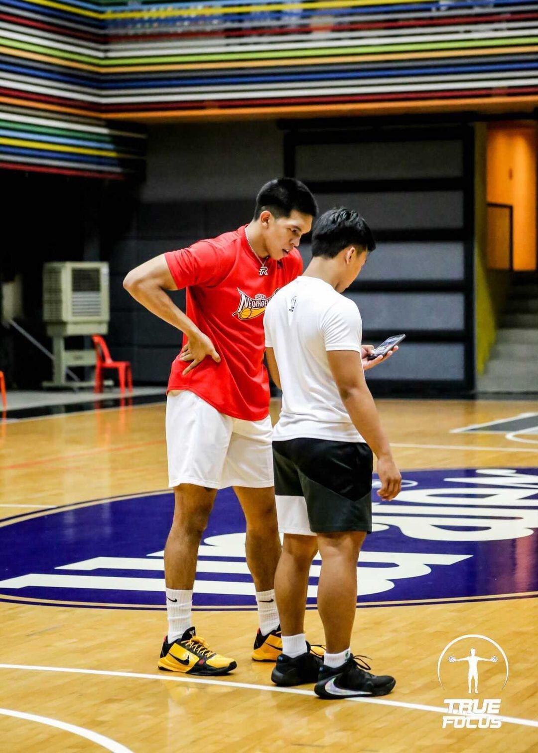Trainer Jolo Tamayo of True Focus trains with Thirdy Ravena.