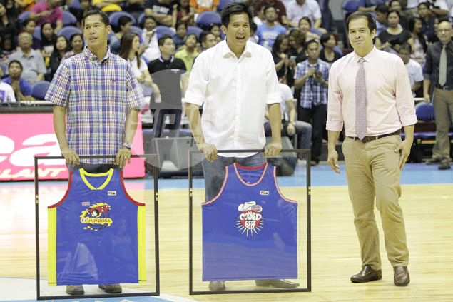 Purefoods greats Jerry Codinera, Rey Evangelista find 'closure' in jersey retirement ceremony