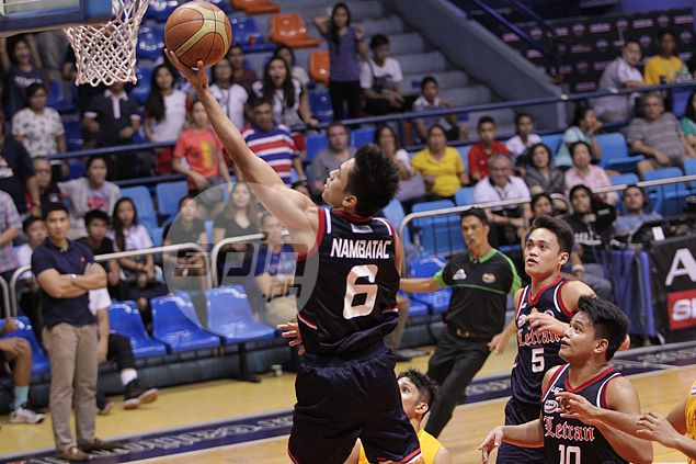 Rey Nambatac's timely baskets avert Letran collapse against brave Cardinals