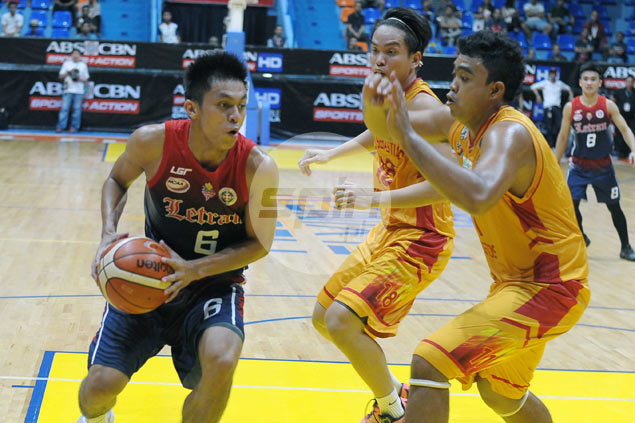 Rey Nambatac erupts for season-high 40 points as Letran disposes off rival Stags