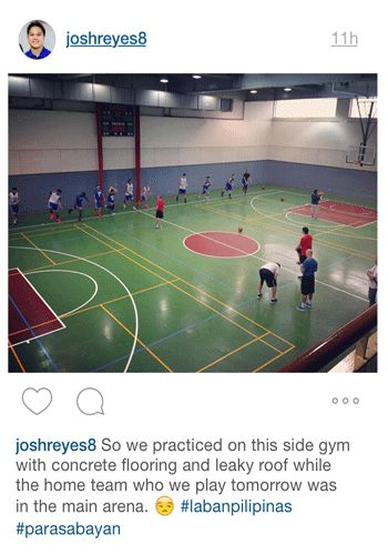 Gilas has to make do holding first practice for Jones Cup on a concrete Taipei gym