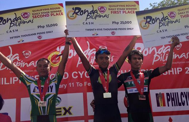 Son of former tour champ Rolando Pagnanawon tops opening leg of Ronda Visayas stage