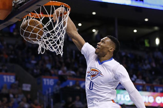 OKC Thunder play through heavy hearts to blow away Pelicans behind big Westbrook game